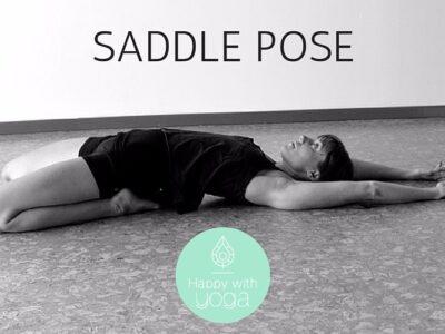 saddle pose